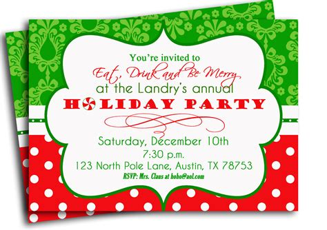 printable invitations for christmas party christmas party invitation printable traditional holiday
