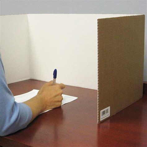 cardboard privacy screens for desks flipside 60005 cardboard desktop carrels 24 pk schoolsin