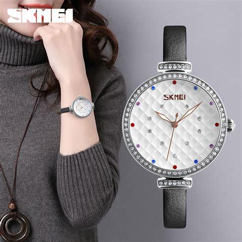 Jam Tangan Wanita White skmei jam tangan analog wanita 9142 white