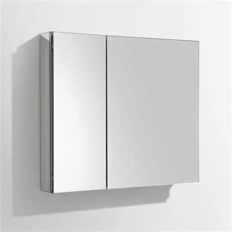 Wide Medicine Cabinet Fresca 30 Quot Wide Bathroom Medicine Cabinet W Mirrors