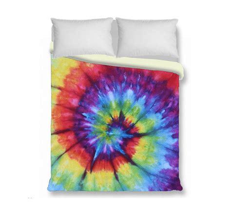 tie dye comforter full duvet cover comforter cover tie dye bedding rainbow by