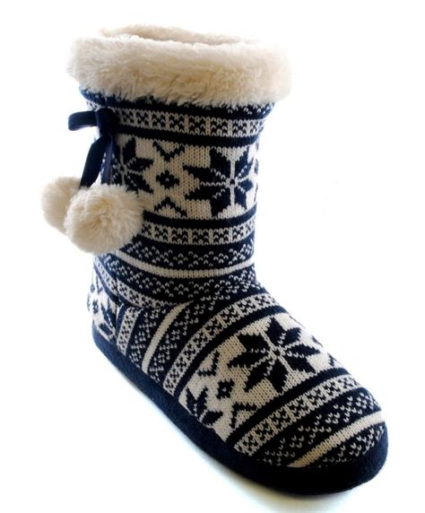 knitted boot slippers womens slipper boots booties slippers knitted or fleece