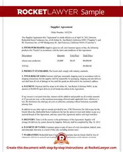 Manufacturers Rep Agreement Template by Supplier Agreement Template Create A Free Form With Sle