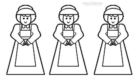 coloring page pilgrim girl printable pilgrims coloring pages for kids cool2bkids
