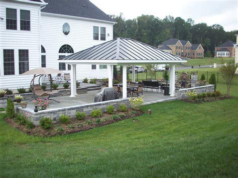 pavilion and patio cover american home design in nashville tn main street landscape landscape design patios