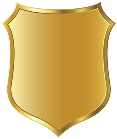 blank badge template badge badge officer outline clipart kid clipartix
