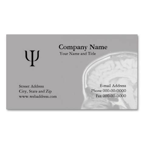 psychologist business card templates free 17 best psychology business cards images on