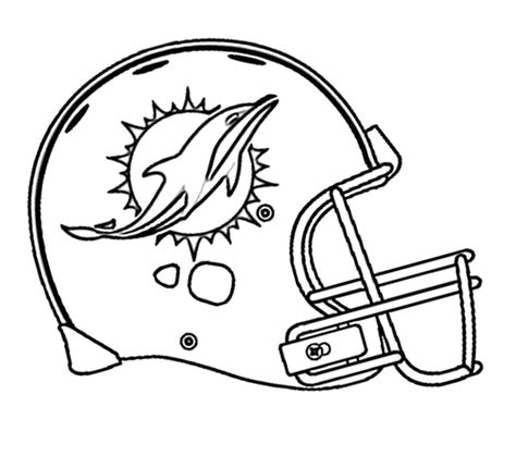 Coloring Pages Of Miami Dolphins | football miami dolphins coloring page kids coloring