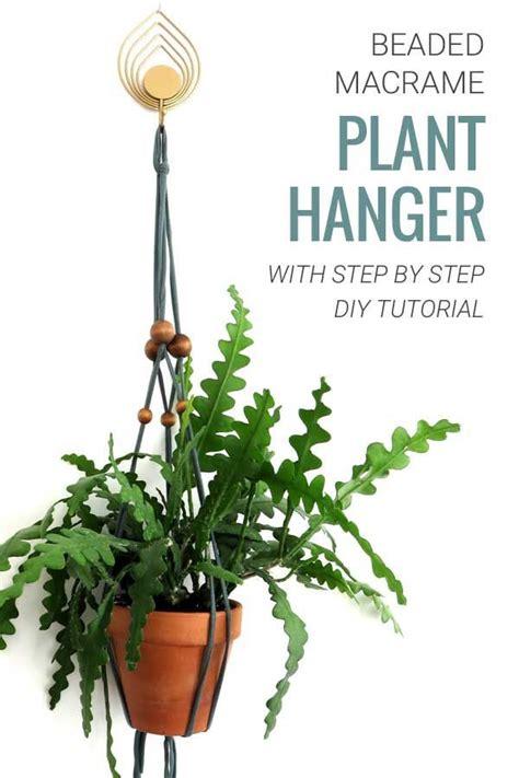 diy beaded macrame plant hanger