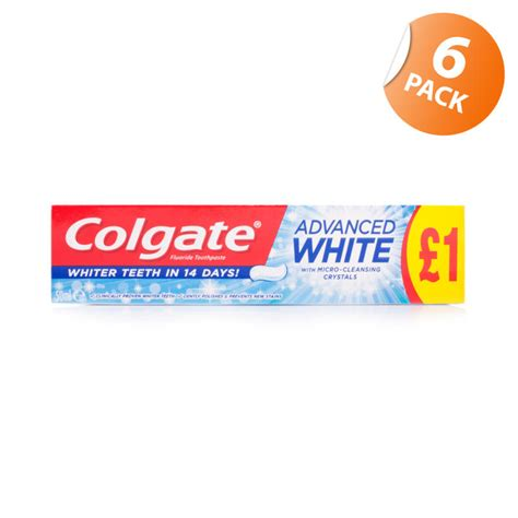 colgate sensitive whitening toothpaste chemist direct colgate advanced whitening toothpaste 6 pack chemist