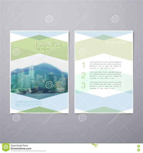 business review brochure stock vector image of background