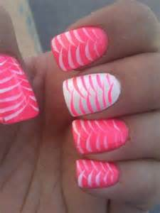 Pink and white nails nail designs picture