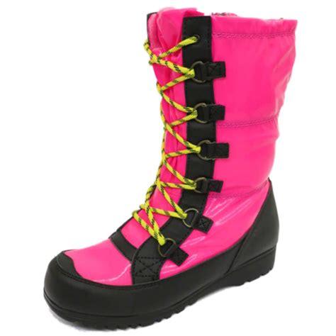 pink winter boots childrens pink winter warm zip snow ski