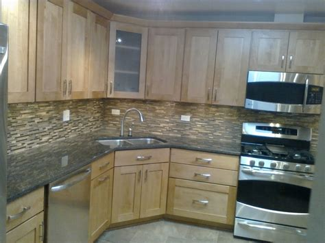 Backsplash With Maple Cabinets by 847 535 9779 Mordini General Contracting