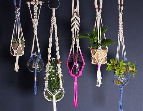 Macrame Patterns For Hanging Plants - this seventies revival show has a modern twist macrame