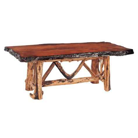 reclaimed redwood burl juniper dining tables
