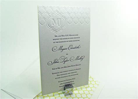 Digby Wedding Invitation And Design Studio by Quatrefoil Pattern Letterpress Wedding Invitations Digby