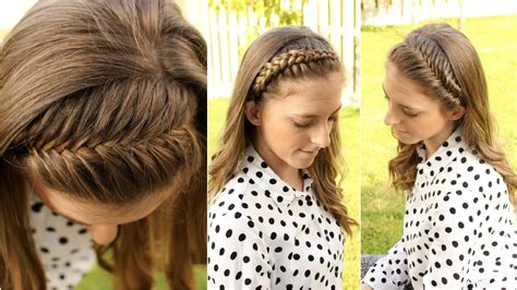 diy hairstyles for medium hair youtube how to 4 diy braided headbands braidsandstyles12 youtube