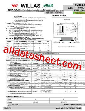 datasheet transistor a733 a733 datasheet pdf willas electronic corp