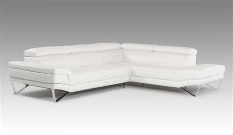 david modern white italian leather sectional sofa