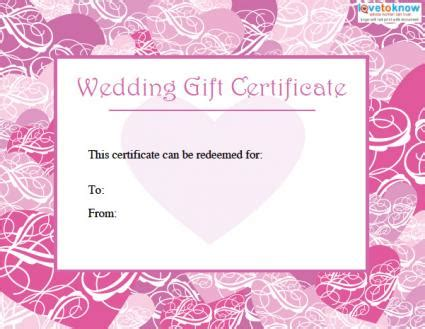 free wedding gift card template printable wedding gift certificates lovetoknow