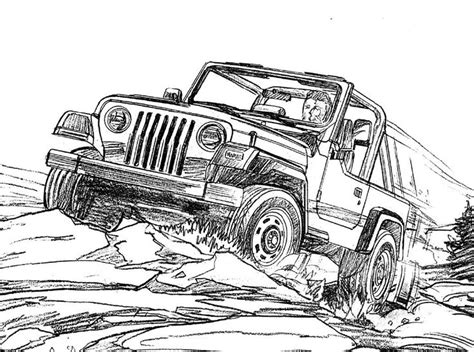coloring page of a jeep jeep wrangler coloring page for the kids jeep