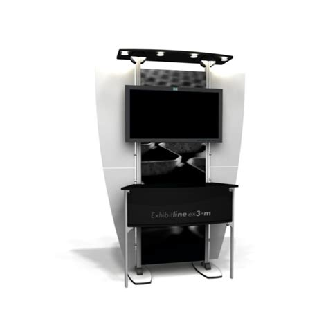 Desk Kiosk by Exhibitline Kiosk Workstation Ex3 M