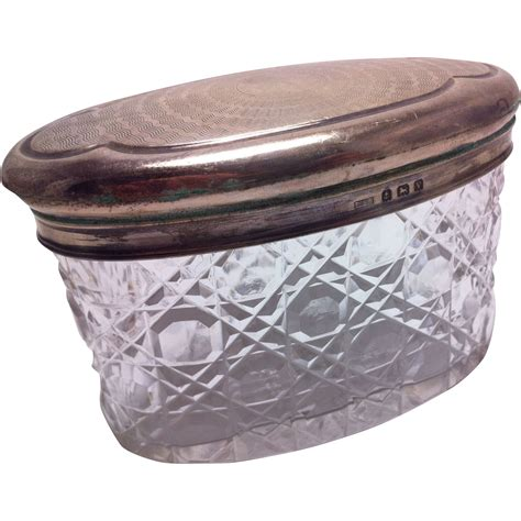 Oblong Levis 1 levi salaman birmingham oval sterling silver top dresser jar 1920 from themoodycarpenter on ruby