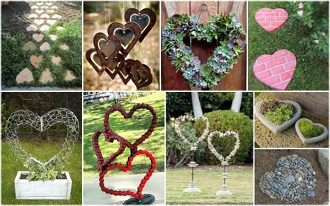 amazing heart shaped garden decorations   fall
