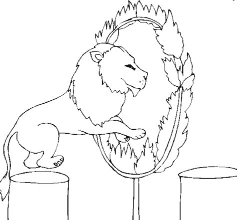 circus lion coloring page free circus coloring pages