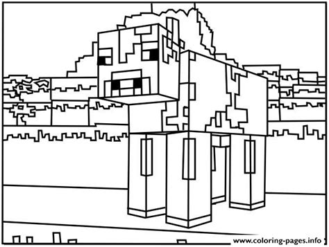 minecraft santa coloring page minecraft dog coloring pages printable