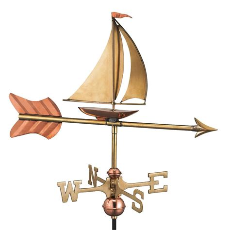 directions sailboat garden weathervane copper
