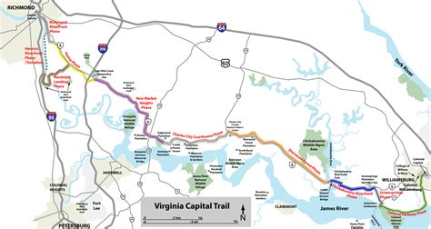capital bike map virginia capital trail