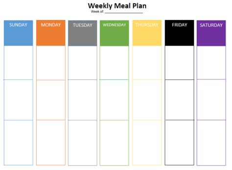 blank meal plan printable blank meal plan free printable healthy body equals