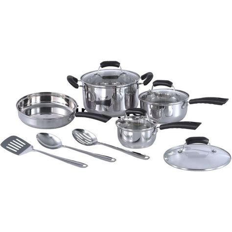 stainless steel induction ready 11 piece cookware set