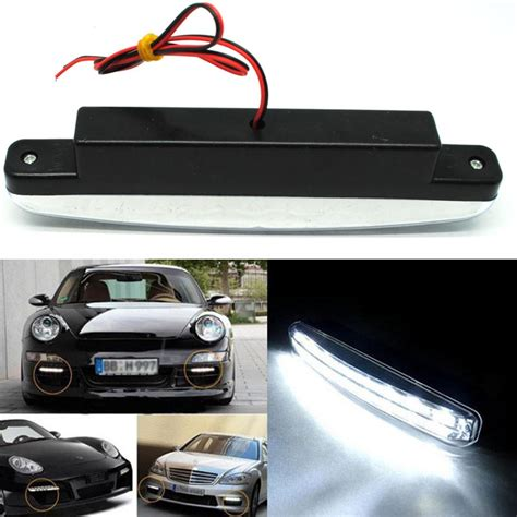 Lu Led Putih Mobil lu fog light mobil daytime led 6000k 12v black