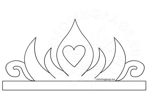 paper crown template for princess paper crown printable coloring page