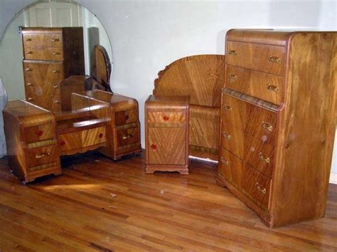 1940s bedroom furniture waterfall style furniture waterfall bedroom set 1930 40 waterfall this