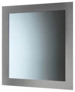 silver framed mirror bathroom mirror with frame silver contemporary bathroom