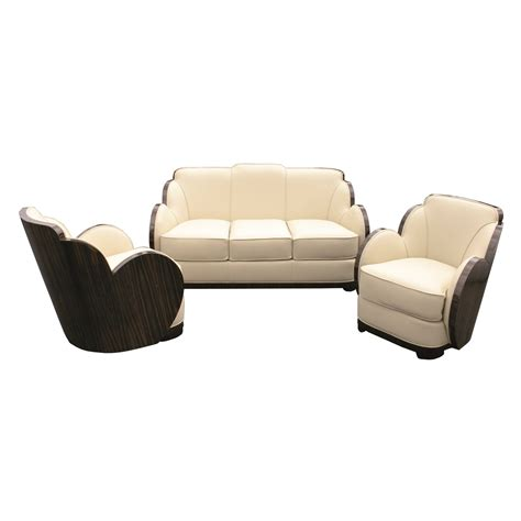 art deco sofa and chairs art deco sofa cygal art deco furniture
