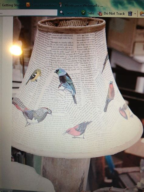 Decoupage Light Shade - decoupage l shade lighting and bottles