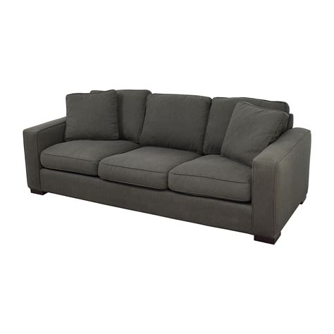 room and board sofas 49 off room board room board metro sofa in charcoal