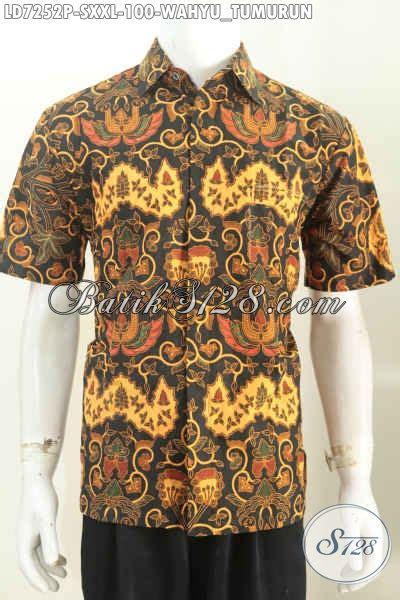 Baju Pakaian Pria Busana Kemeja Pendek Motif Batik Murah 3 baju batik printing klasik pakaian batik lengan pendek motif wahyu tumurun kwalitas istimewa