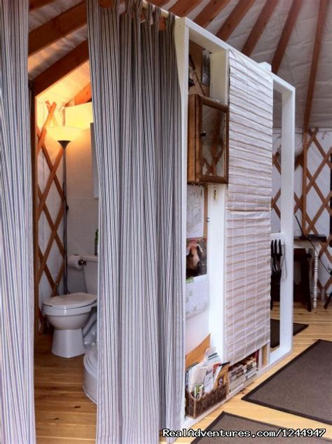 Yurt Shower by Yurt For Rent Nature Retreat Waterville New
