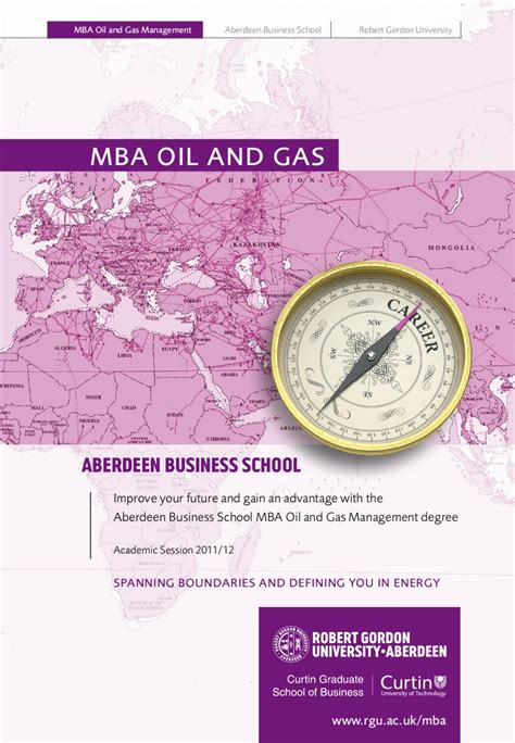 Mba In And Gas Management In Uk by Mba Gas Brochure By The Robert Gordon Issuu