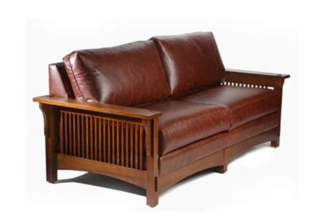 mission style leather sofa for the home