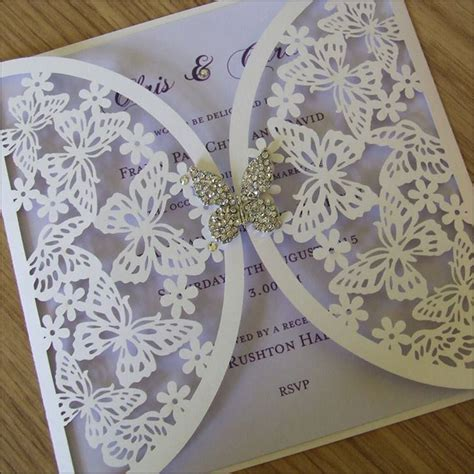 Wedding Invitations With Butterflies On Them wedding invitations wedding paraphernalia s
