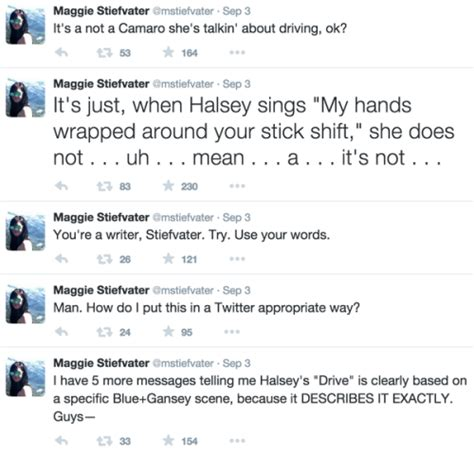 And Interesting Answers From Maggiedammit by Maggie Stiefvater V Halsey Oh No They Didn T
