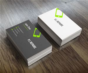 Iphone Repair Business Card Template by 59 Professional Business Business Card Designs For A