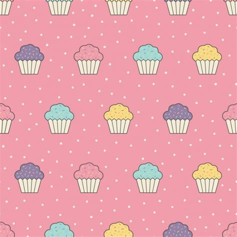 hd cupcake pattern cupcakes pattern design vector free download